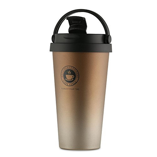 Home / portable Stainless Steel Coffee Mug Insulation / cold Beer Cup acuum Insulated Double-Walled 18/8 Stainless Steel Hydro Travel Mug Coffee color 17OZ (500ml) by SEPT MIRACLE (Image #2)