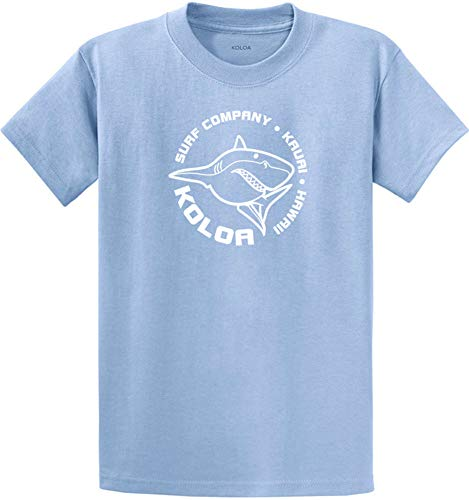 Koloa Shark Circle Logo Cotton T-Shirts in Regular, Big and Tall Sizes