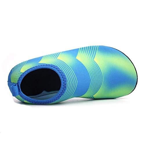 jaune 9 Sandales couleur bleu Zhrui unisexe uk eu28 taille enfants pour d'été enfant YwqOp