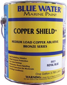 Blue Water Marine Paint Copper Shield 45 Ablative Black