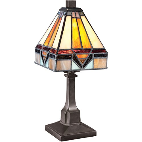 Quoizel TF1021TVB Holmes Mini Tiffany Table Lamp, 1-Light, 25 Watts, Vintage Bronze (12