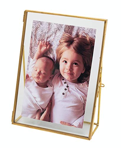 Levilan 6x8 Gold Photo Frame Vintage Style Antique Gold Standing Picture Frames with Pressed Glass, Brass (6 x 8)