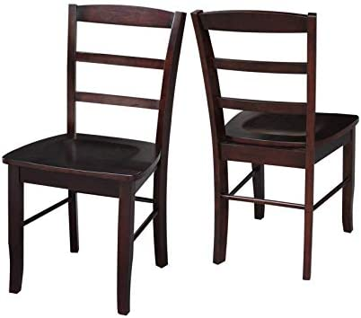 Amazon.com: Wood & Style Furniture Madrid Ladder Back Chair ...