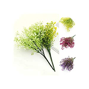 Artificial Flowers 1 Bouquet DIY Artificial Baby's Breath Flower Fake Silicone Plant for Wedding Home Party Decorations 102