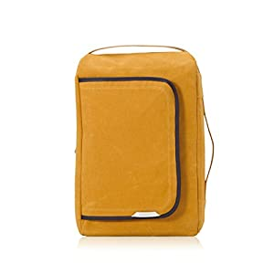 Rawrow Fashion School Backpack Bookbag R Bag 100 Wax Canvas (Mustard)