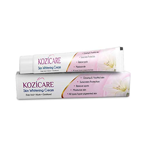 Kozicare Skin Lightening Cream with Kojic Acid, Arbutin, Glutathione | All Types Hyper Pigmented Skin, Remove Spots- 15g