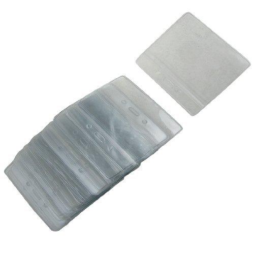 eDealMax 50 Pcs Exposition PVC Transparent Horizontal Badge d'identification Carte Dtenteurs