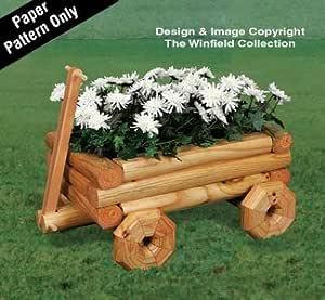 Amazon.com: Landscape Timber Wagon Planter Wood Pattern