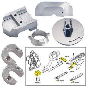 Tecnoseal Anode Kit w/Hardware - Mercury Alpha 1 Gen 2 - Magnesium (52028)