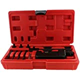 ABN Chain Breaker 13-Piece Set with Carrying Case – Chain Cutter and Riveter for Motorcycle, Bike, ATV