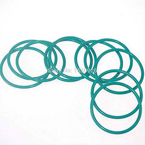 Mercury_Group Gaskets, 10Pcs Fluorine Rubber FKM Inside Diameter 61.5mm Thickness 3.55mm Seal Rings O-Rings ()