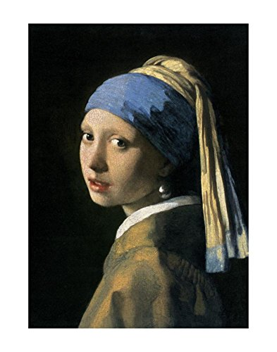 Girl with a Pearl Earring Art Print Fine Poster by Jan Vermeer