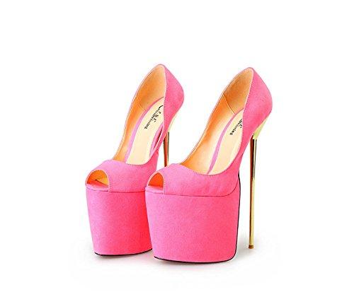 Cm 40 eu42 Metal Kode Kvinde 8 A Heisimei Fisk Sko Heisimei 50 Super Pink Sort Eu47 22 wZIqn0C