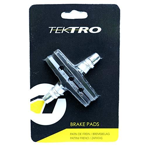 Black Replacement Brake Pad - Tektro V-Brake Threaded Pads, Black