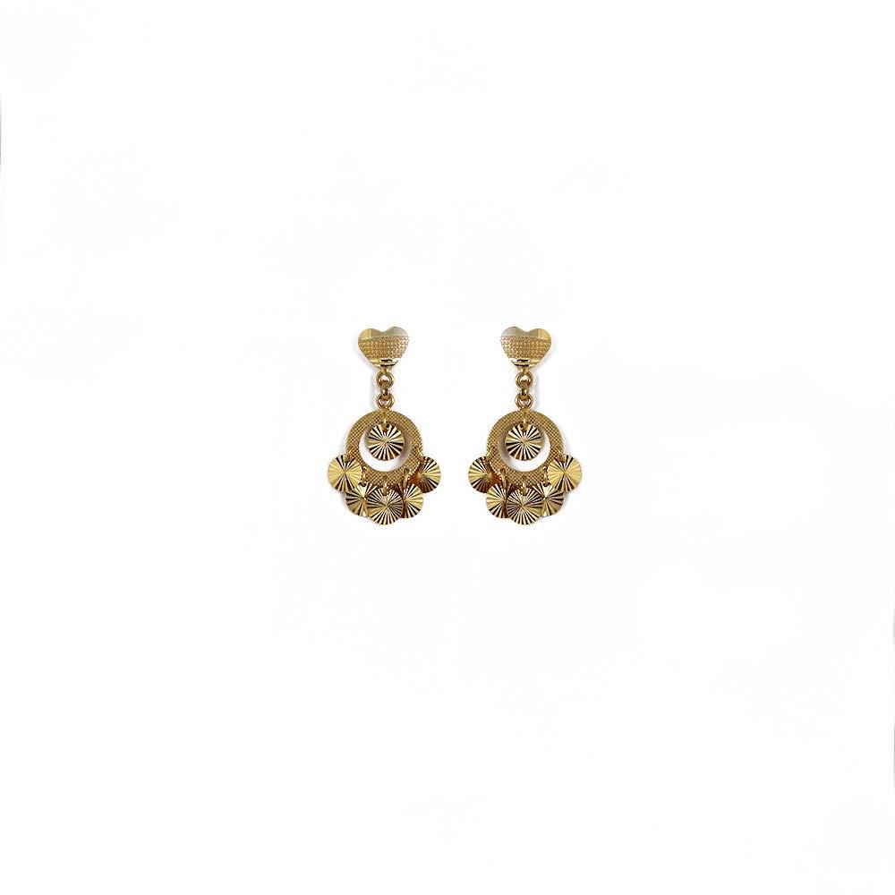Buy Bhima Jewellers 22kt Yellow Gold Jhumki Earrings For Women At