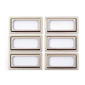 Martha Stewart Binder Bookplates, Vertical, 6-pack, Silver (51121)