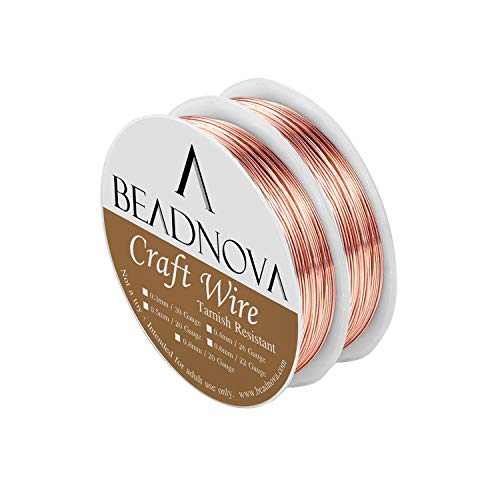 (BEADNOVA Bare Copper Wire Tarnish Resistant Jewelry Making Wire (Copper,20gauge))