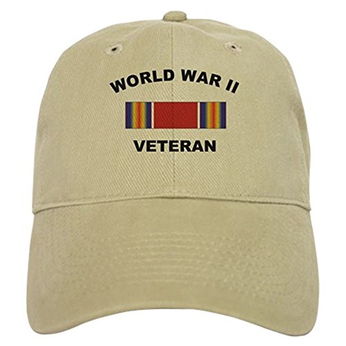 CafePress - World War II Veteran - Baseball Cap with Adjustable Closure, Unique Printed Baseball Hat
