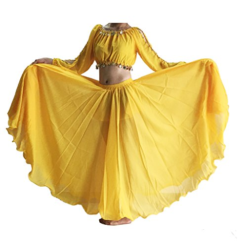 Yellow Tiered Skirt - 4