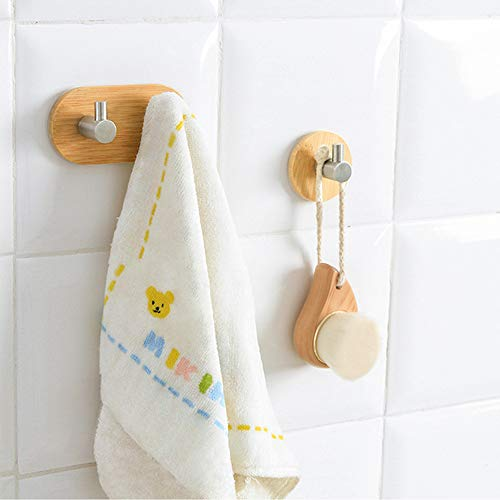 Gotian Door Hook Hanger Bathroom Kitchen Closet Without Nail Hook Stainless Steel Bamboo ~ Not Only a Hook but Also a Childish Ornament ~ Hang the Spatula, Egg Beater, Scissors (105 cm) (B) ()
