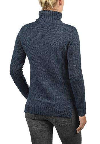 Punto Mujer Con Suéter Blue Pia Para Alto Doblado Melange Sudadera Cuello Jersey 8991 De Desires Insignia 4zqXvf