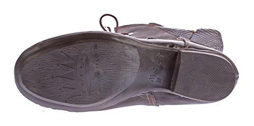 Schuhe TMA 8166 Damen Comfort Stiefel echt Boots 42 TMA 36 Print gefüttert Animal Leder Gr Winter qwSqrfd0