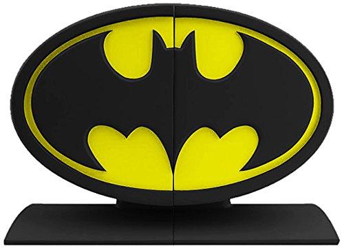 Batman Logo Bookends Statue, Black and Yellow (Batman Icon)