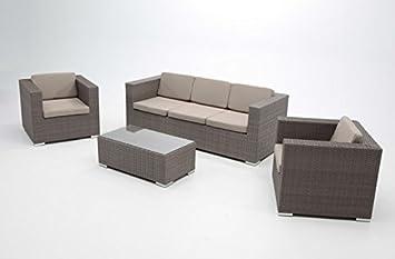 Set sofas rattan Sidney 5 plazas: Amazon.es: Jardín