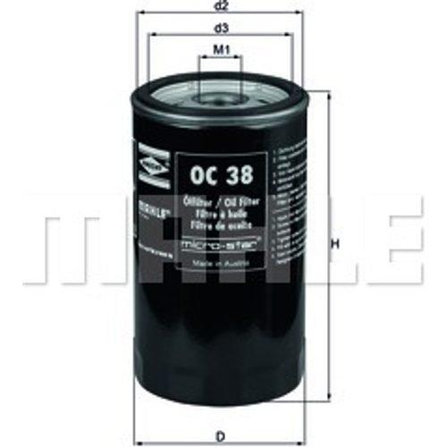 Knecht OC38 Filtre /à huile