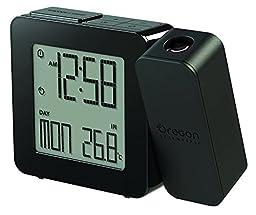 Oregon Scientific RM338PA/CLMBK Projection Atomic Clock Indoor Temperature, Black