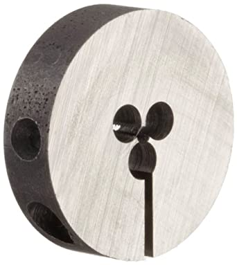 """Union Butterfield 2010(UNF) Carbon Steel Round Threading Die, Uncoated (Bright) Finish, 13/16"""" OD, #0-80 Thread Size"""