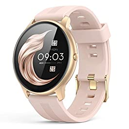 Smart Watch for Women, AGPTEK IP68 Waterproof Smartwatch for Android and iOS Phones Activity Tracker with Full Touch…