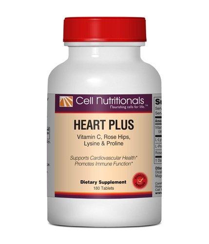 Heart Plus: Vitamin C, L-Lysine & L-Proline; 180 Tablets by Cell Nutritionals