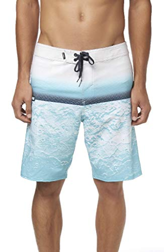 O'Neill Men's Water Resistant Hyperfreak Stretch Swim Boardshorts, 20 Inch Outseam (Cyan / SU19, -