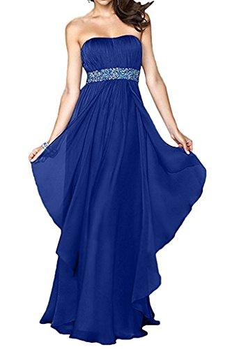 Royal Jugendweihe Chiffon Kleider Marie Partykleider Langes Abendkleider La Braut Ballkleider Blau Damen nFvxxHg8