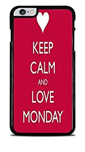 Keep Calm and Love Monday Black Hardshell Case for iPhone 6+ (5.5) by supermalls