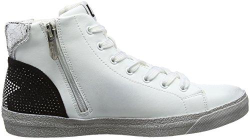 Les P'tites Bombes Damen Daphne Hohe Sneaker, Silber (Argent), 38 EU