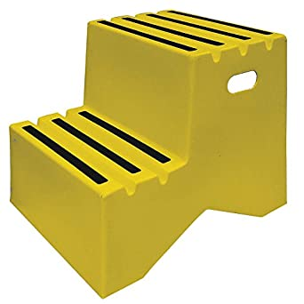 Step Stand 2 Steps Polyethylene Yellow Amazon Com