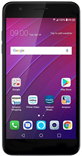 LG K30 - 16 GB - Unlocked (AT&T/T-Mobile/Verizon) - Black - Prime Exclusive Phone (Setup App Store Account Without Credit Card)