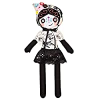 """Catrina doll / Day of the dead / Mexican / Handmade / Stuffed toy / Embroidered / Halloween / 15"""" - 38cm cloth doll"""