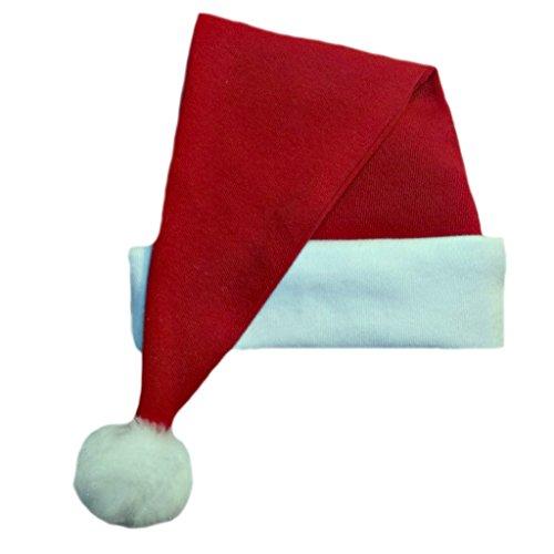 Jacqui's Unisex Baby Red Cotton Knit Santa Hat, 3-6 Months Irish Santa Hat