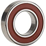 NTN Bearing 6203LLBC3/EM Single Row Deep Groove Radial Ball Bearing, Electric Motor Quality, Non-Contact, C3 Clearance, Steel Cage, 17 mm Bore ID, 40 mm OD, 12 mm Width, Double Sealed
