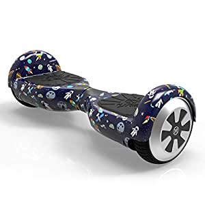 """Megawheels 6.5"""" Hoverboard Monopatín Eléctrico Patinete Eléctrico Scooter con Bluetooth y LED (Starry-Sky)"""