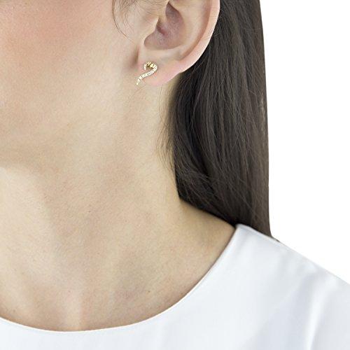 Sarah Ho Boucles d'Oreilles Or Blanc 18carats (750/1000) Ronde Diamant Blanc Femme