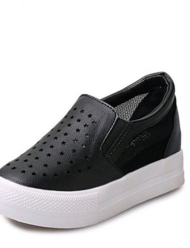 mujer cn40 eu39 5 Negro eu39 Plata Mocasines ZQ cn40 5 silver PU 5 Plataforma Exterior Punta silver Blanco 5 us8 uk6 Casual Laboral Zapatos us8 black Redonda cn40 us8 5 uk6 eu39 Creepers uk6 de 5 T4wE41