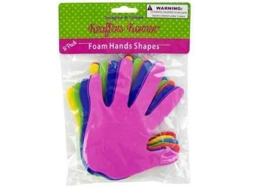 krafters korner Foam craft hands, Case of 144