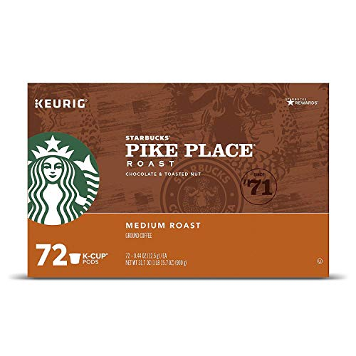 Starbucks Pike Place Roast K-Cups, 24 count (Pack of 3) - Packaging May Vary