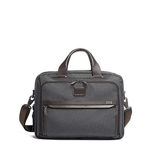 TUMI - Alpha 3 Organizer Laptop Brief Briefcase - 15 Inch Computer Bag for Men and Women - Anthracite ()
