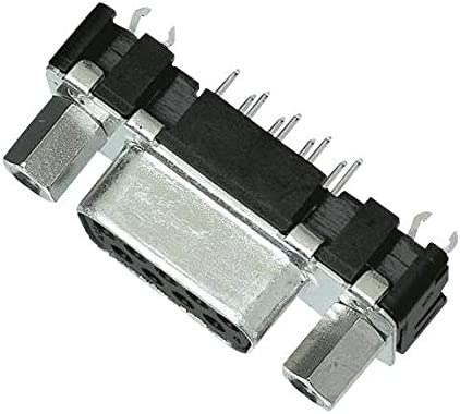 Steel Body, Receptacle Pack of 10 Through Hole D Sub Connector 9 Contacts DB9 09661117502 DE
