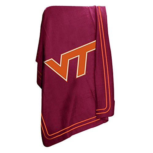 University Fleece Throw (Virginia Tech Hokies CO LOGO Large Lightweight 50